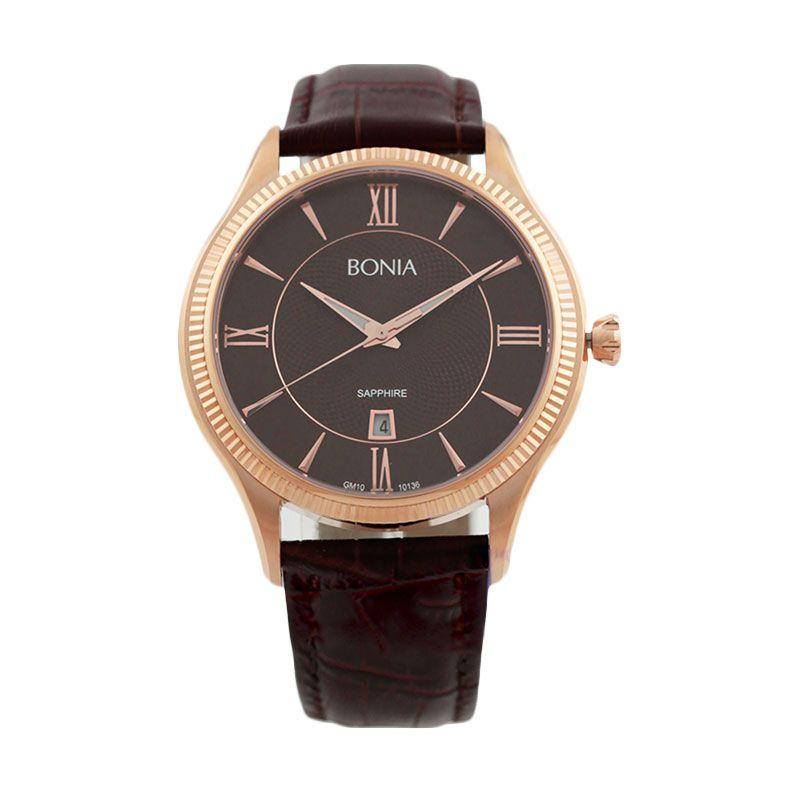 Bonia BN10136-1543 brown Jam Tangan Pria