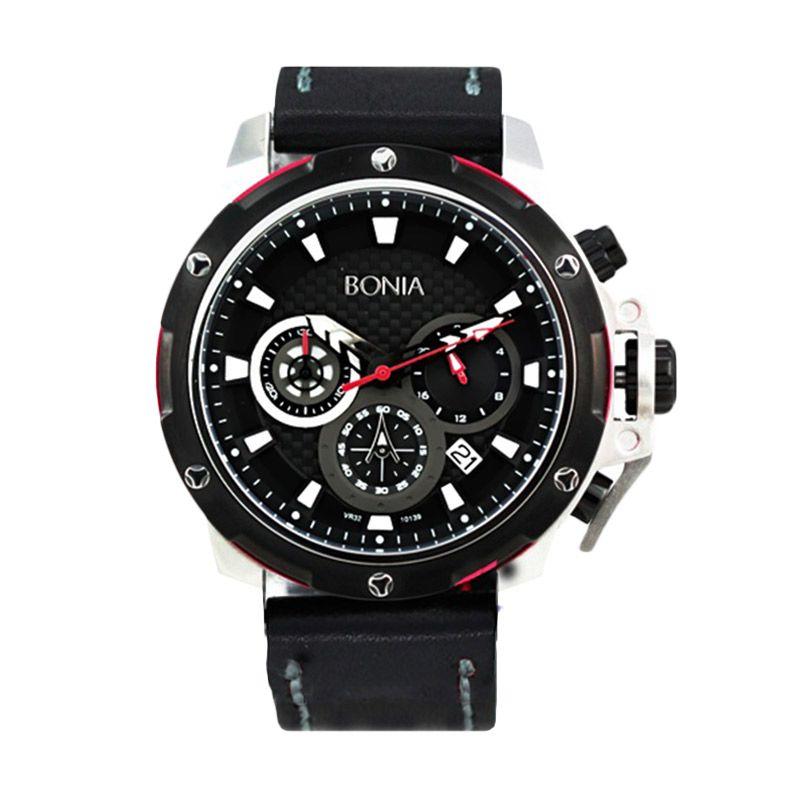 Bonia BN10139-1332C Black Jam Tangan Pria