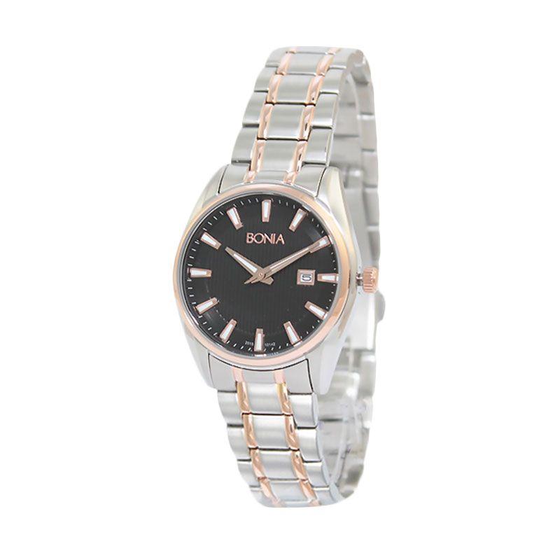 Bonia BN10142-2632 Silver Rose Gold Jam Tangan Wanita
