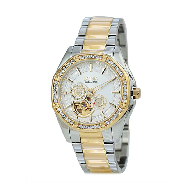 Bonia BN10143-2112S Silver Gold Jam Tangan Wanita
