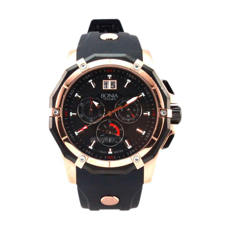 Bonia BN788-1032C Black Jam Tangan Pria