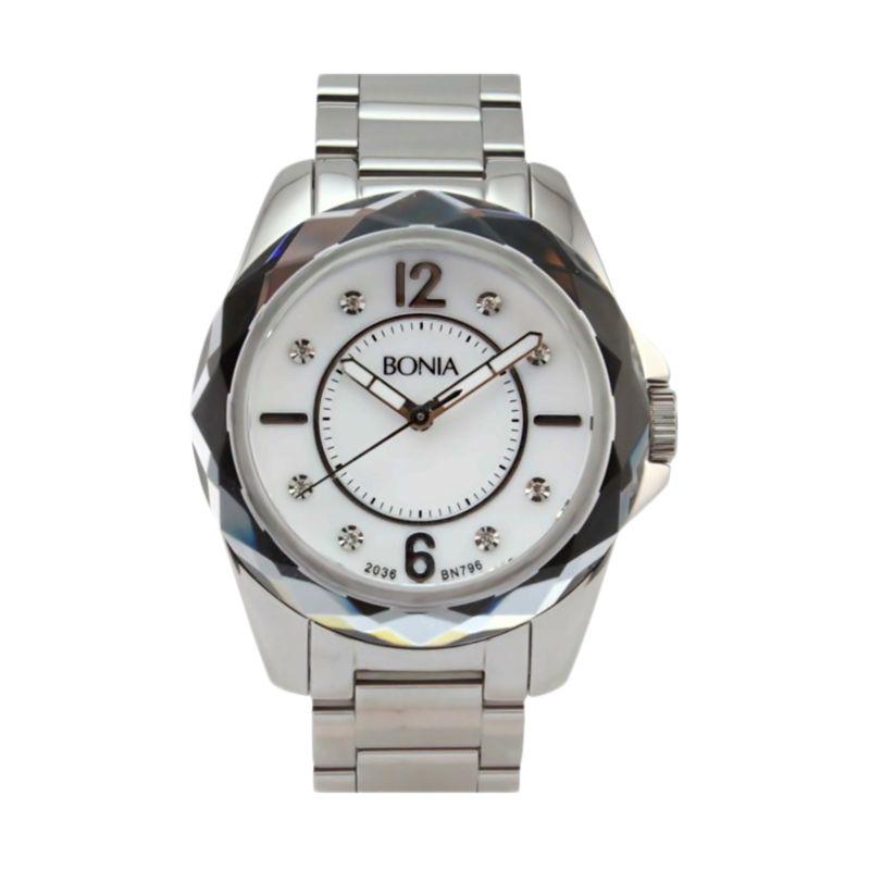 Bonia BN796-3355 Silver Jam Tangan Wanita