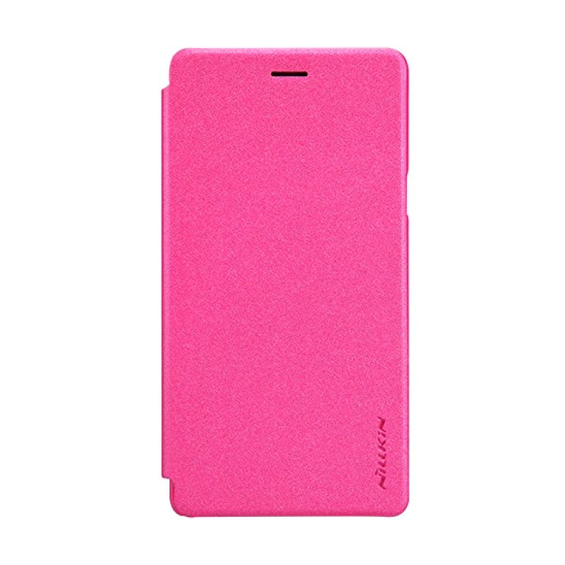 NILLKIN Sparkle Leather Pink Casing for Oppo Mirror 5 A51