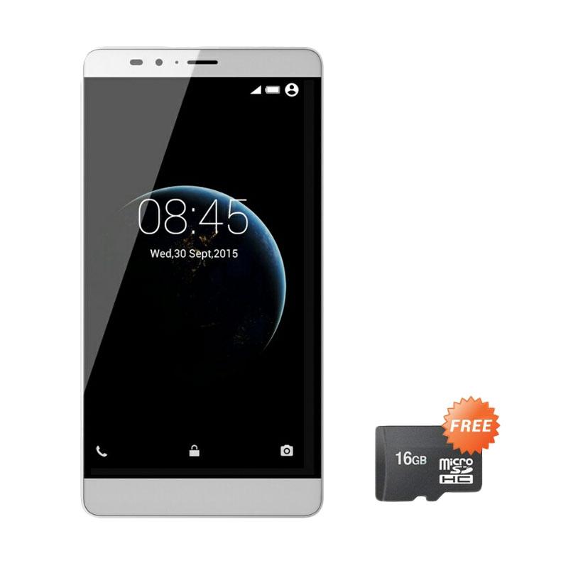 Infinix Note 2 X600 Smartphone - Silver [4G/LTE/Garansi Resmi] + Micro SD 16 GB