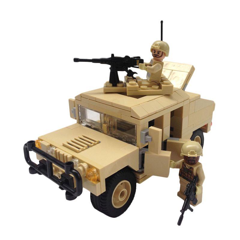 Inini Modern War Humvee Armament Carrier Mainan Blok dan Puzzle