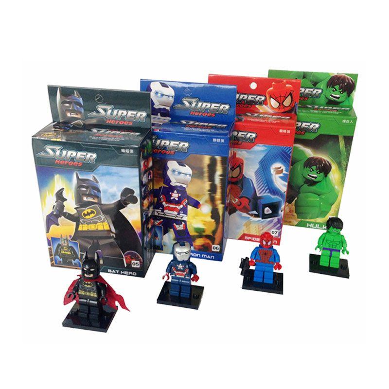 Inini DG Super Hero Blocks 8 Seri Mainan Anak