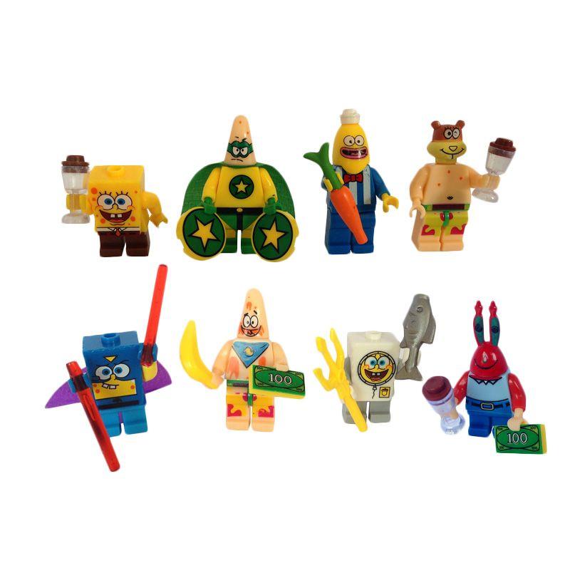 Inini LK Spongebob Set Mini Figure [8 Karakter]