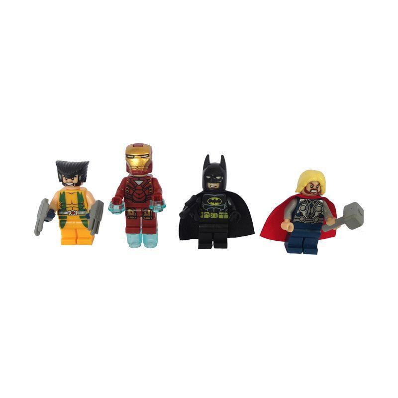 Inini Set HI Super Heroes Set Mini Figure[8 Pcs]