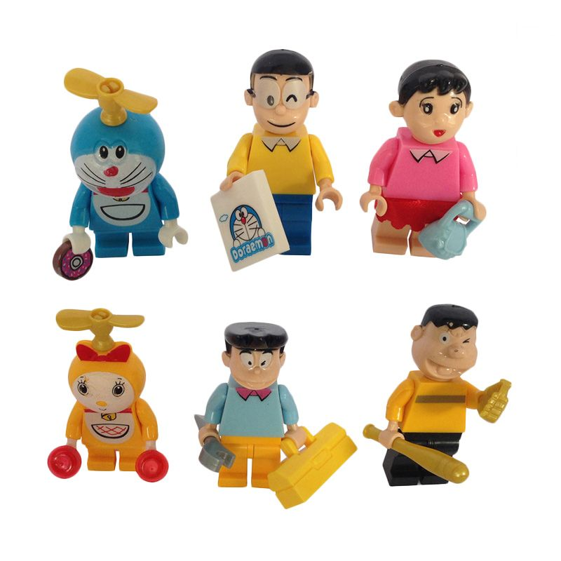 Inini Set JLB Doraemon 6 Karakter Mainan Blok