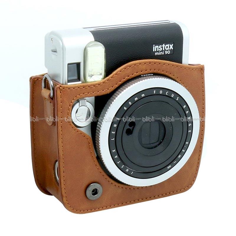 Jual Fujifilm Leather Bag Polaroid Instax Mini 90 Neo Classic Tas