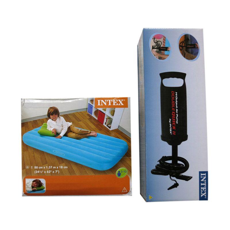 Intex Paket Biru Kasur Anak + Pompa