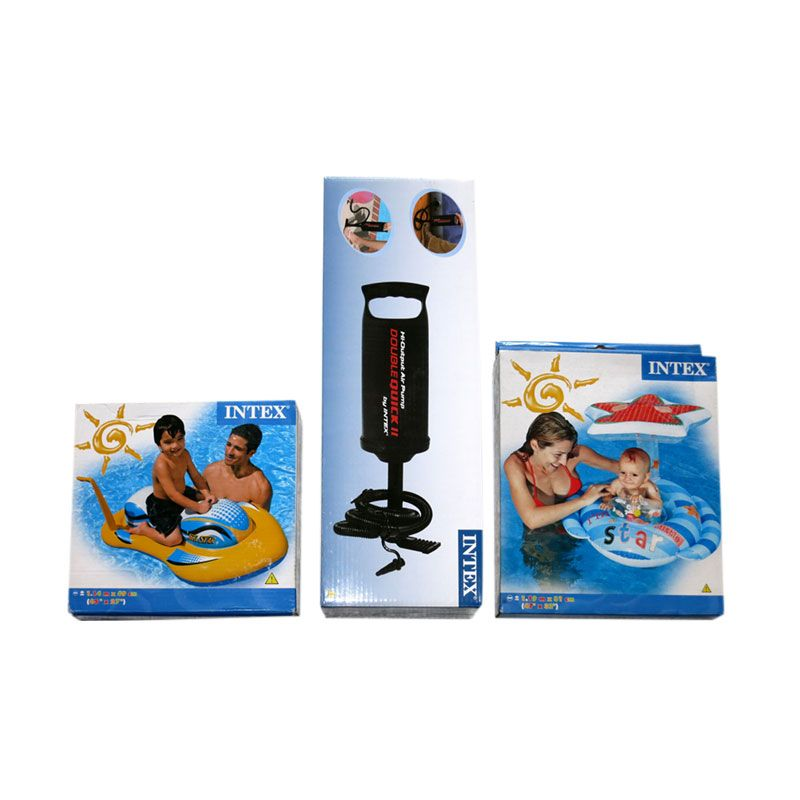 Intex Paket Wave Rider Ride-on dan Baby Float Pelampung + Pompa