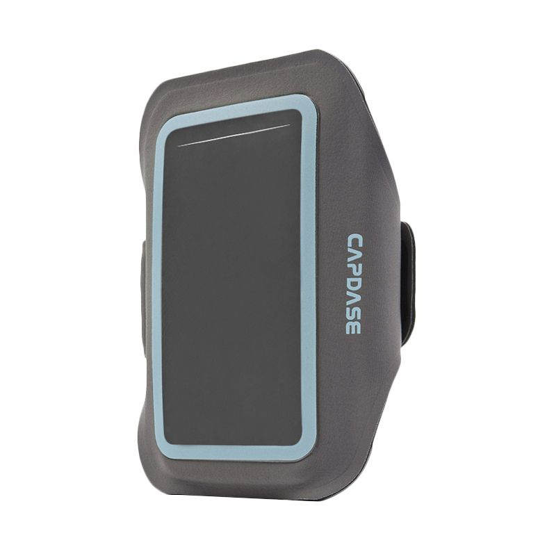 Capdase Sport Armband Zonic Plus 155A Grey Blue Casing for Smartphone