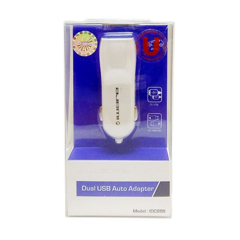 Iware Auto Putih Adapter Car Charger [Dual USB]