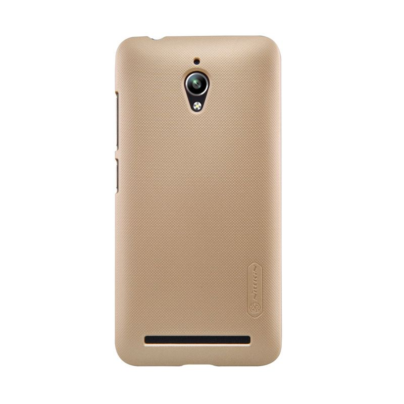Nillkin Frosted Shield Gold Casing for Asus Zenfone Go ZC500TG