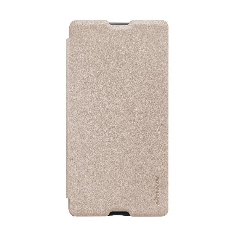 Nillkin Sparkle Gold Leather Casing for Sony Xperia M5