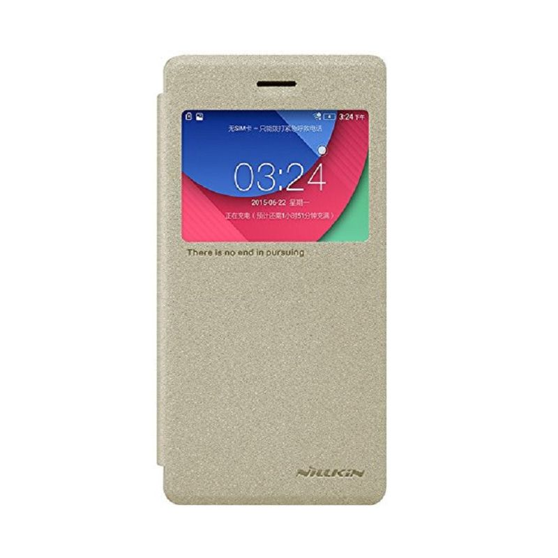 Nillkin Sparkle Leather Gold Casing for Lenovo Vibe Shot Z90