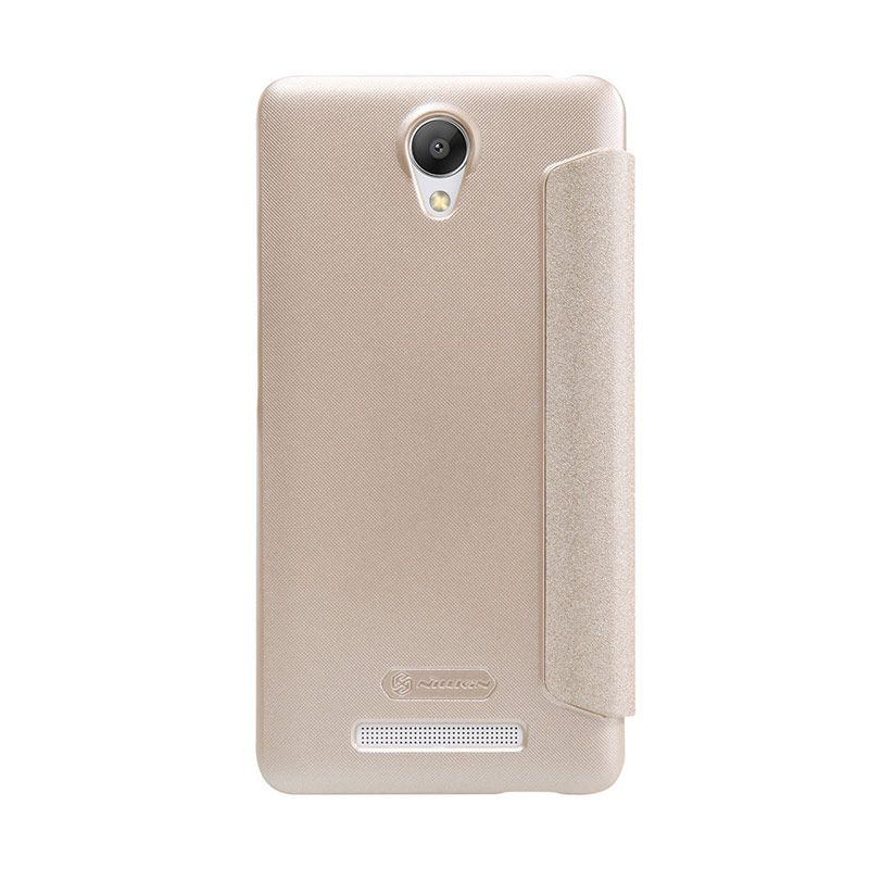 Nillkin Sparkle Leather Gold Casing for Xiaomi Redmi Note 2