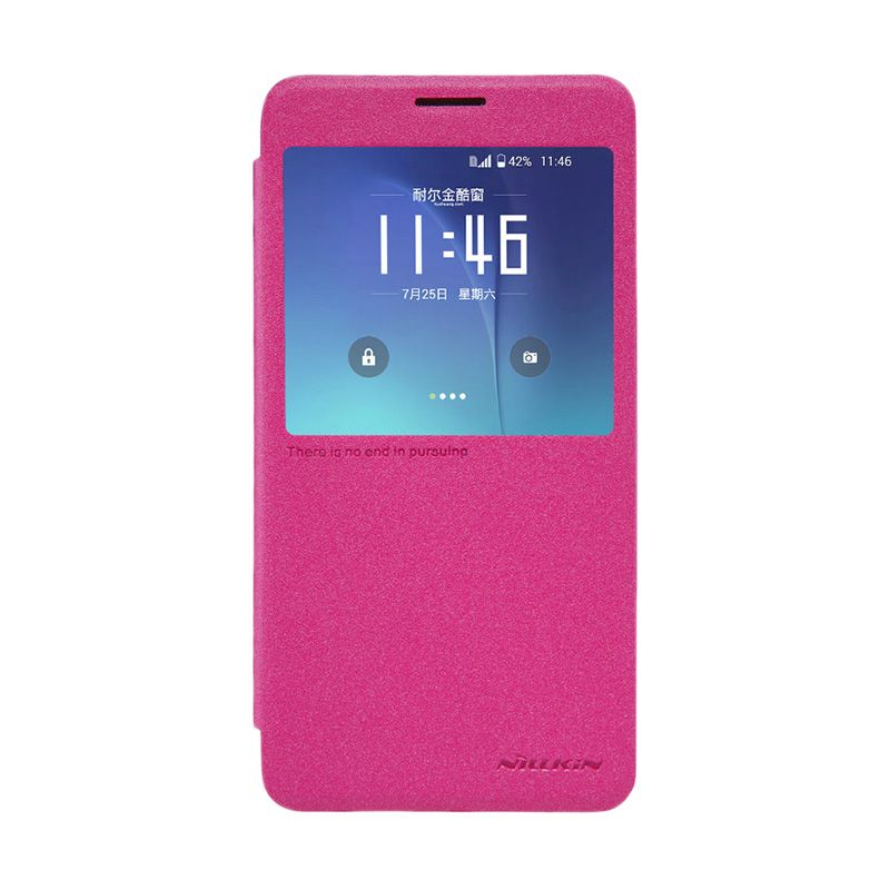 Nillkin Sparkle Leather Pink Casing for Samsung Galaxy Note 5