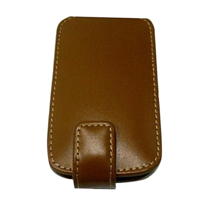 PDair Flip Leather Cokelat Casing for Samsung Galaxy S III
