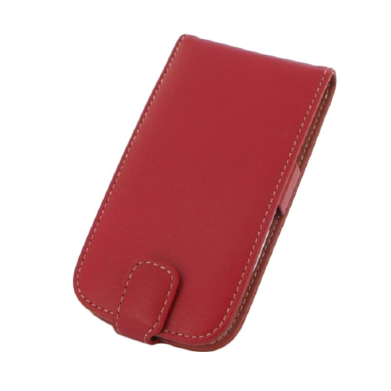 PDair Flip Leather Merah Casing for Samsung Galaxy S III