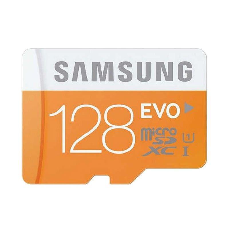 Samsung Micro SDHC EVO UHS-I Orange Memory Card with Adapter [128 GB]