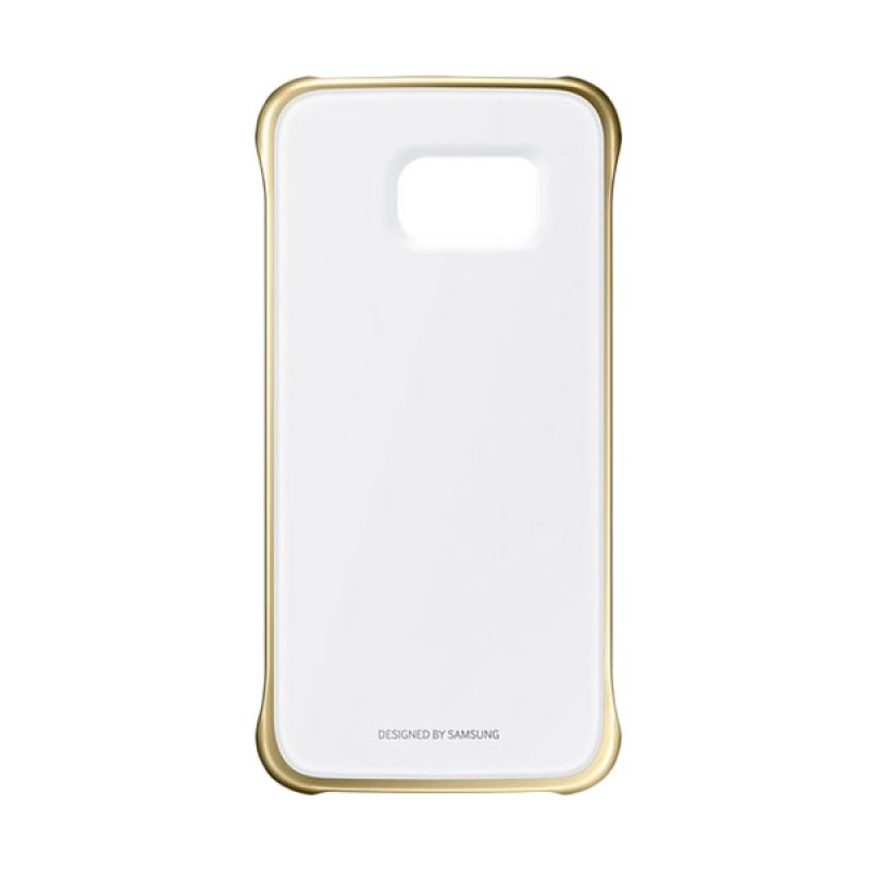 Samsung Original Clear Cover Gold Casing for Samsung Galaxy S6 Edge