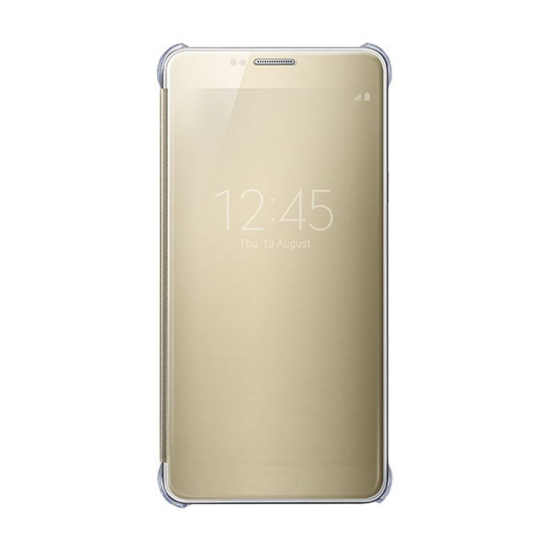 Samsung Original Clear View Cover Gold Casing for Galaxy Note 5