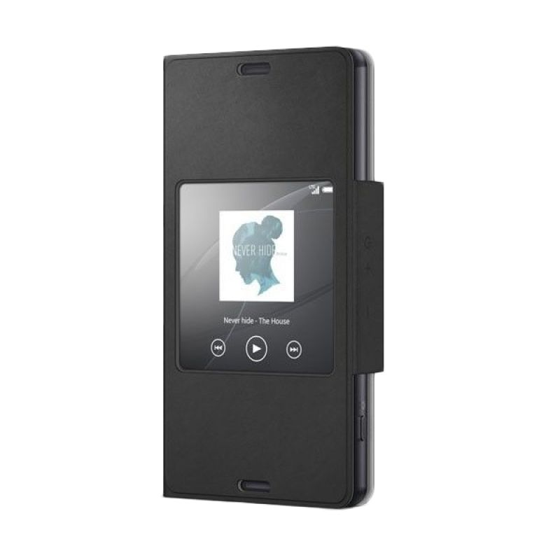 Sony Style Up Hitam Flip Cover Casing for Xperia Z3 Compact