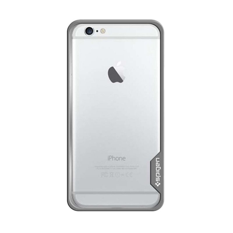 Spigen Bumper Neo Hybrid Ex Metal Silver Casing for iPhone 6 Plus