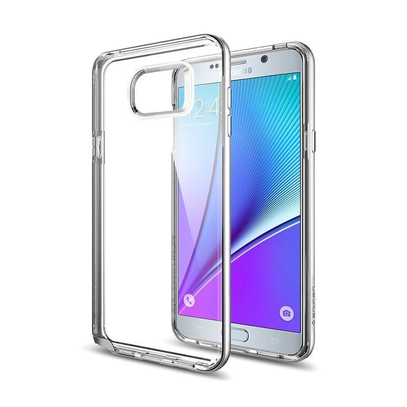 Spigen Neo Hybrid Crystal Satin Silver Casing for Galaxy Note 5