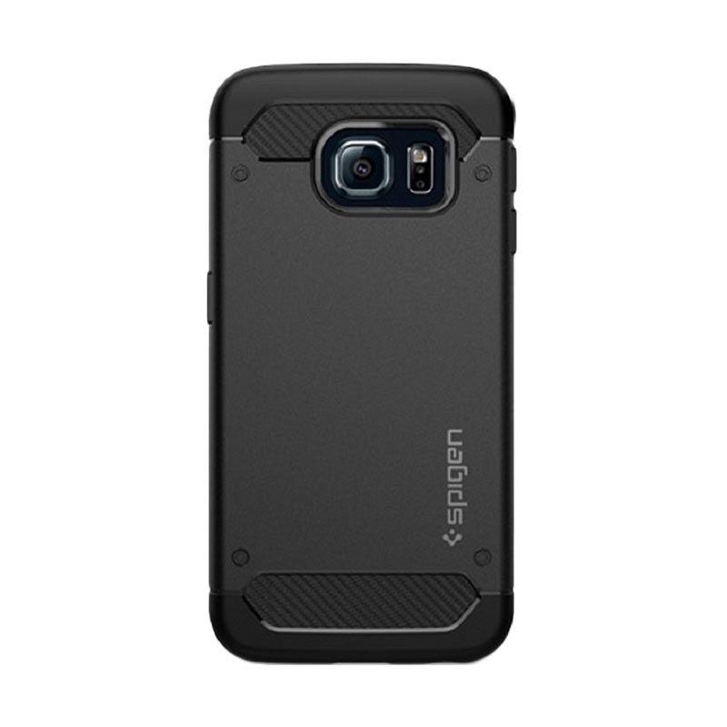 Spigen Rugged Capsule Black Casing for Galaxy S6 Edge plus