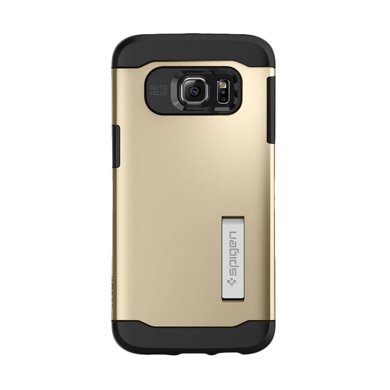 Spigen Slim Armor Champagne Gold Casing for Galaxy S6 Edge Plus