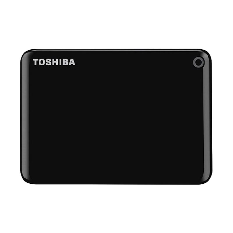Toshiba Canvio Connect II Portable Black Hard Disk Eksternal [3 TB]