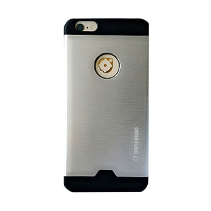 Turtle Brand Tur Case Series Metal Silver Casing for Apple iPhone 6 Plus