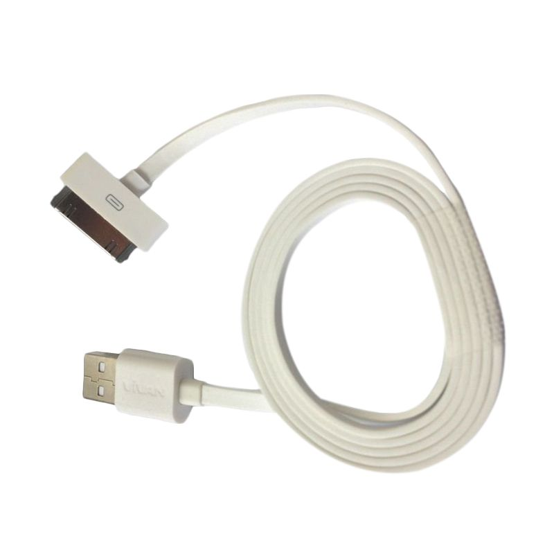 Vivan White USB Data Cable for iPhone 4 and iPad 3 [1 m]