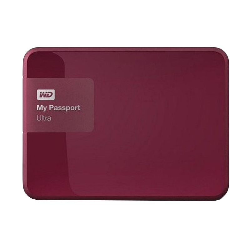 WD My Passport Ultra New Merah Hard Disk Eksternal [1 TB]