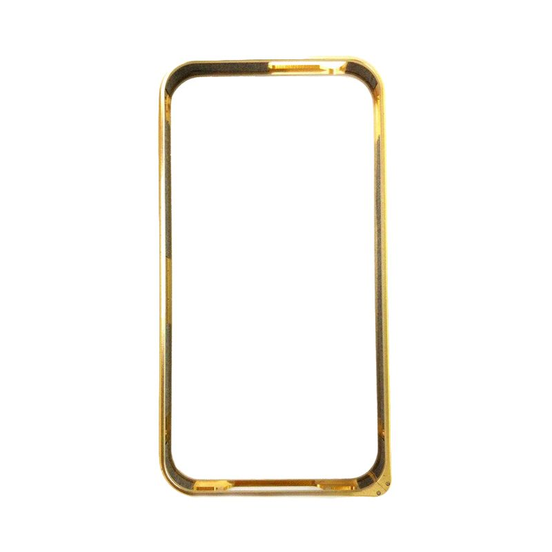 Creative Bumper Gold Casing for iPhone 4