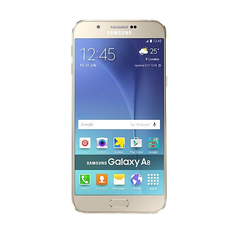 Samsung Galaxy A8 SM-A800 Gold Smartphone [32 GB]
