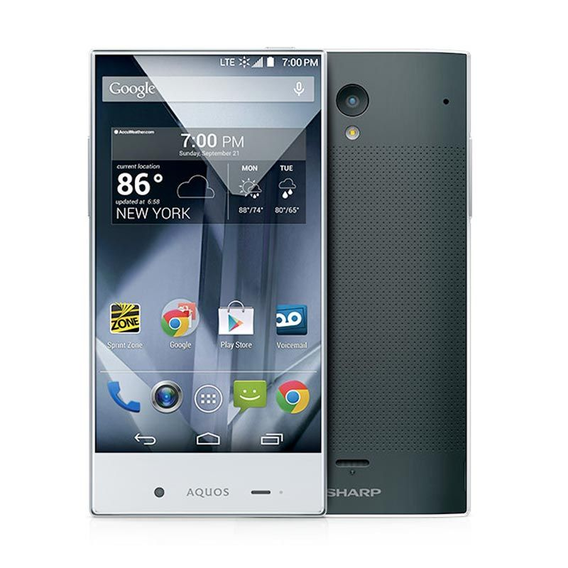 Sharp Aquos Crystal Hitam Smartphone [8 GB]