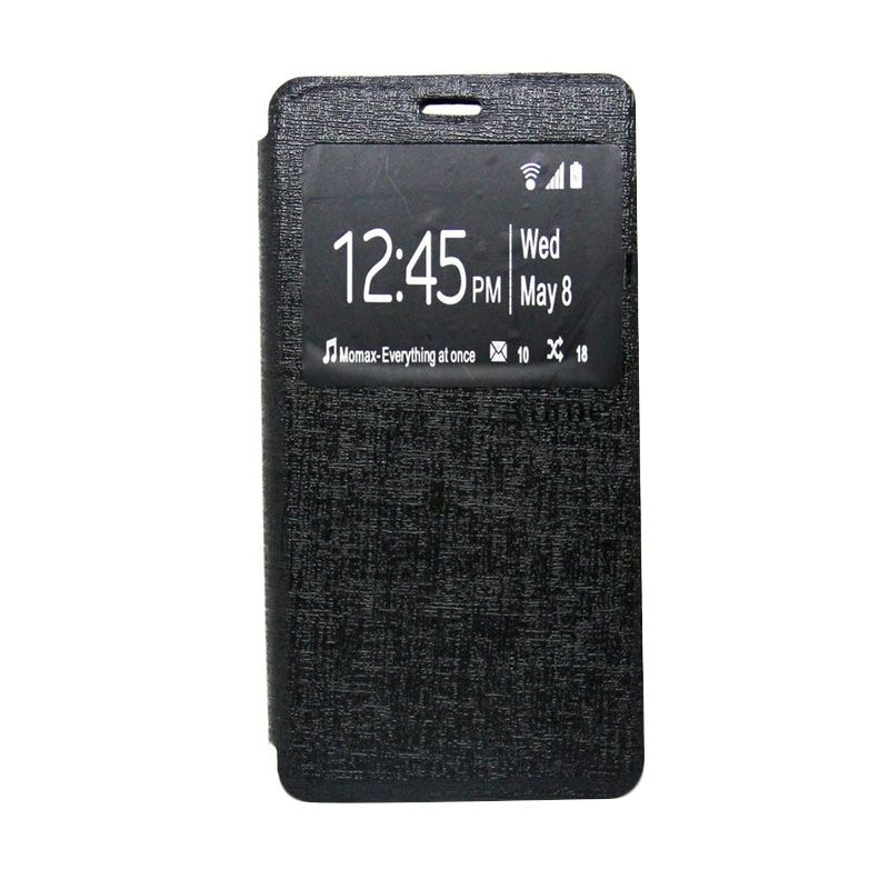 Ume Leather Hitam Flip Cover Casing for Lenovo A7000