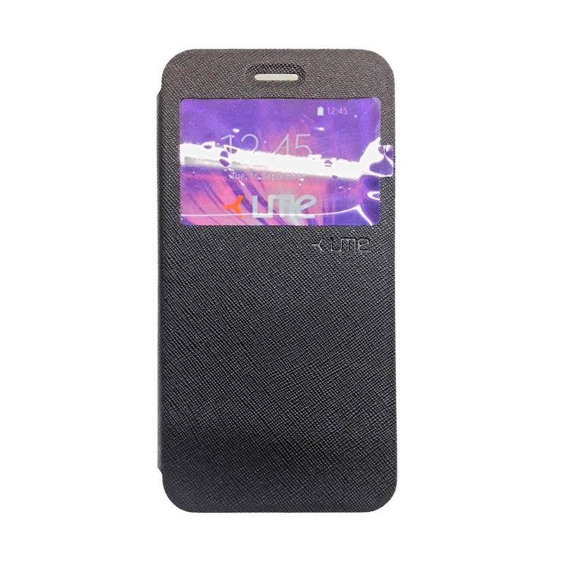 Ume Hitam Leather Casing Lenovo S90 Livo