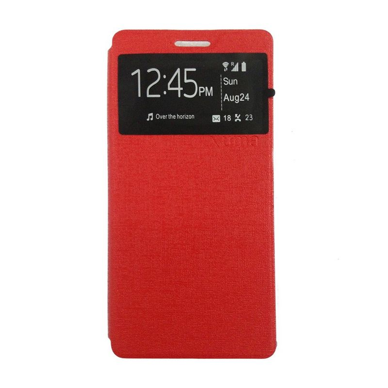 Ume Leather Merah Flip Cover Casing for Lenovo A7000