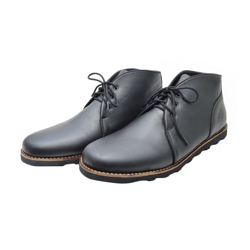 Giant Shoes Ponte Black Sepatu Boot Pria