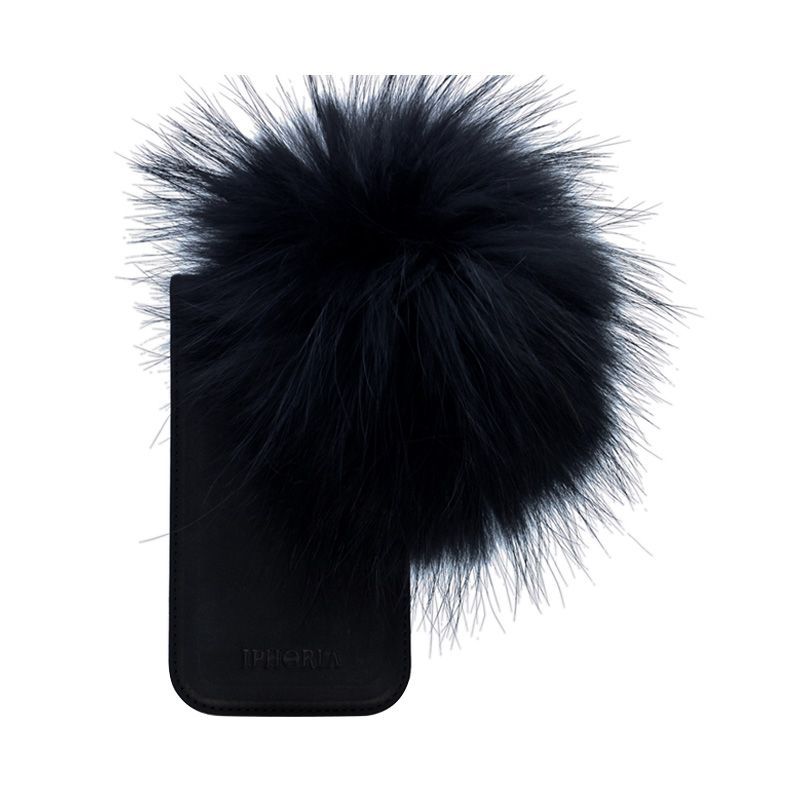 IPHORIA Raccoon Fur Black Casing for iPhone 5/5s