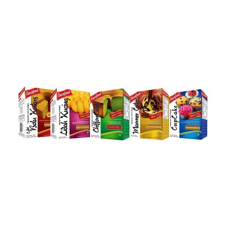 Isacafood Paket Tepung Instant Cepat Saji [Paket A] + Free Bonus