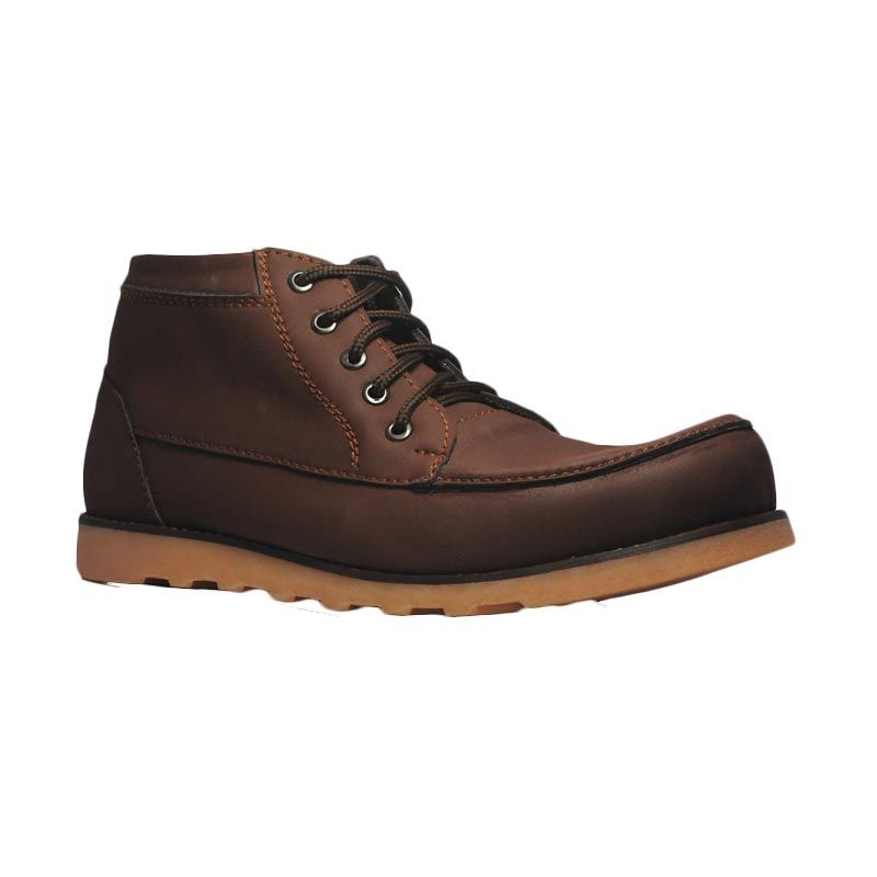 Island Shoes Boots Projects Leather Brown Sepatu Pria