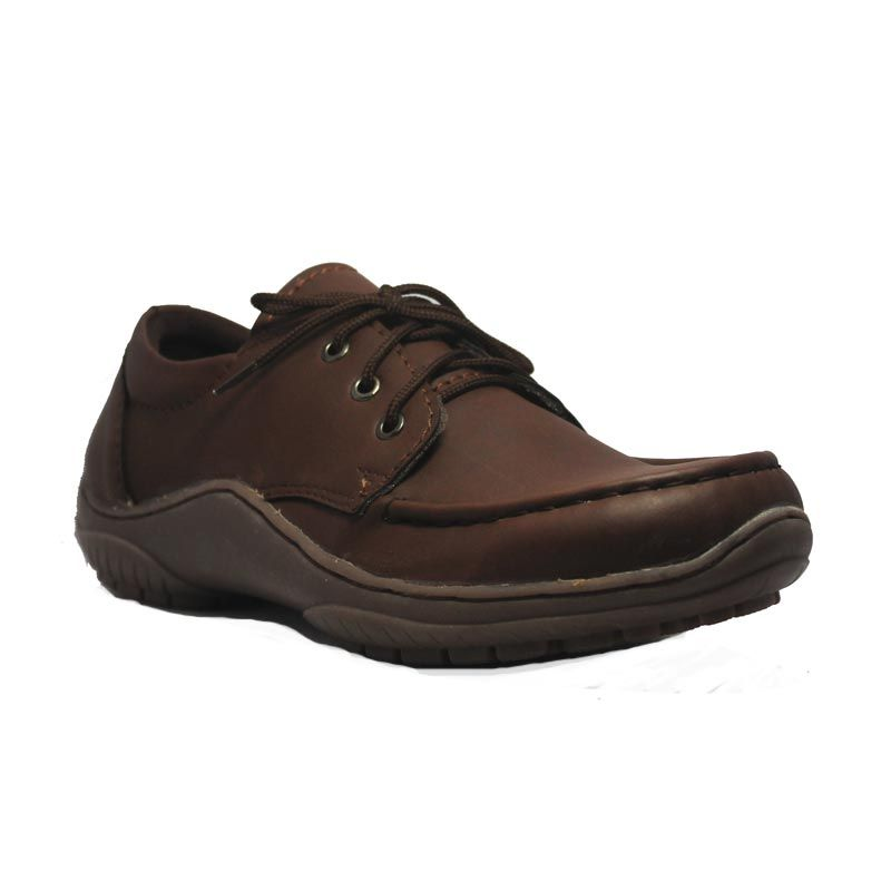 Island Shoes Boots Under Leather Brown Sepatu Pria
