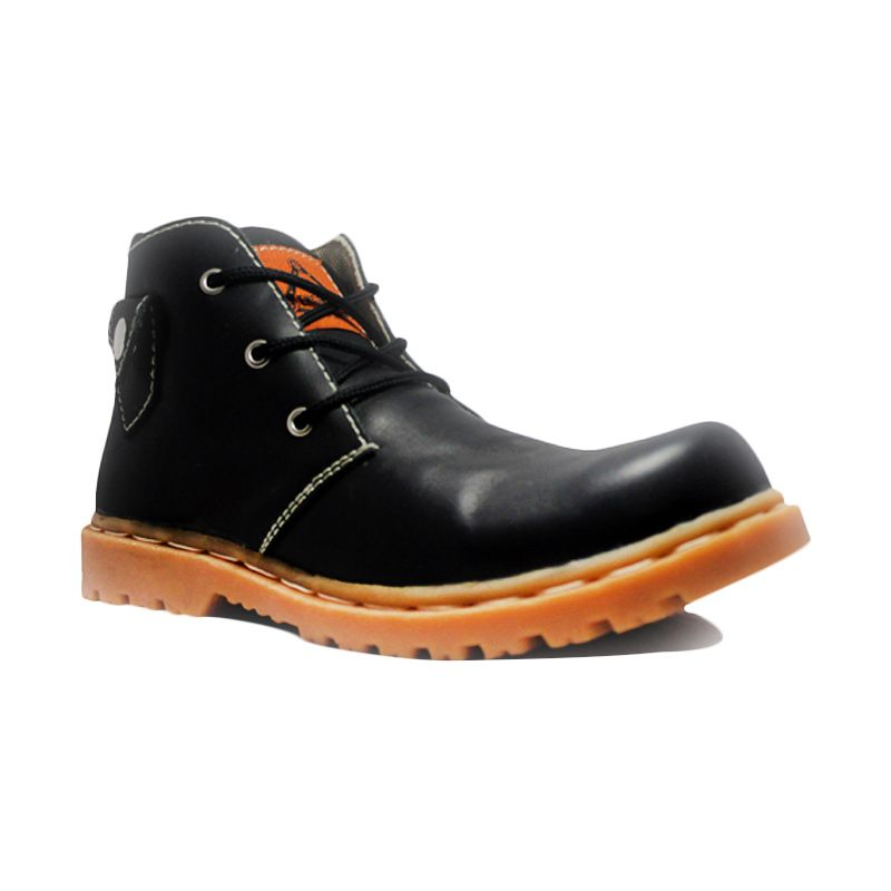 Cut Engineer Safety Boots Lacoste Black Sepatu Pria