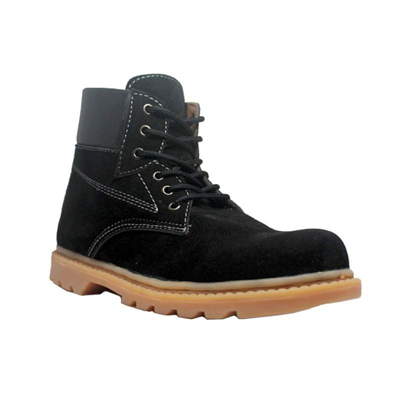 Cut Engineer Safety Rubben Boots Leather Hitam Sepatu Pria